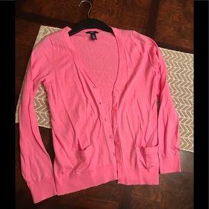 GAP kids Girls 100% Cotton Pink Cardigan Size XL